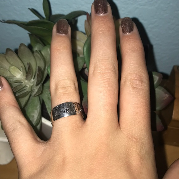 Jewelry Sterling Silver Love Life Be Brave Ring Poshmark